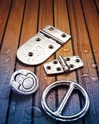 Bisagras, manijas, ganchos y anillas
